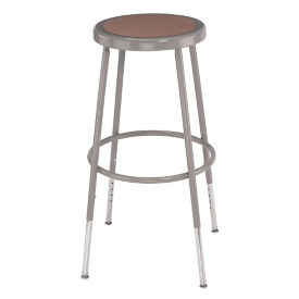 "Adjustable Height Hardboard Seat Stool - 31-39""H , C70493"