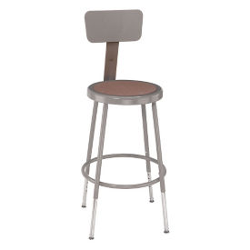 "Adjustable Height Stool with Backrest - 32-42""H , C70494"