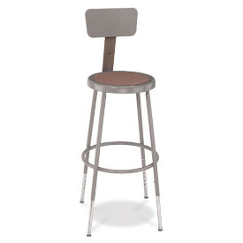 "Adjustable Height Stool with Backrest - 38-48""H , C70495"
