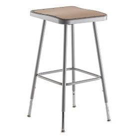 "Adjustable Height Square Seat Stool - 24""-32""H , C70498"