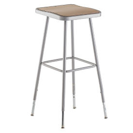 "Adjustable Height Square Seat Stool - 30""-38.5""H , C70499"