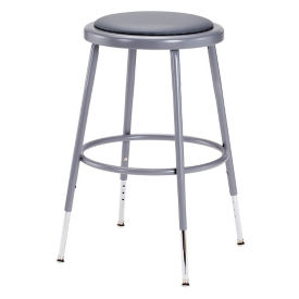 "Adjustable Height Padded Stool - 19""-27""H, C70503"