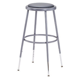 "Adjustable Height Padded Stool - 25""-33""H, C70504"