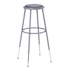 "Adjustable Height Padded Stool - 31""-39""H, C70505"