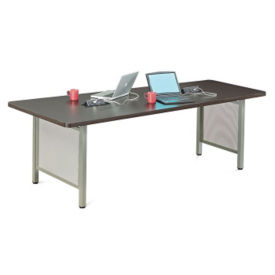 "At Work Angled Media Table - 96""W, E10020"