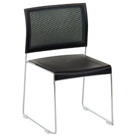 Mesh Back Plastic Seat Stack Chair, C60042