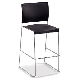 Facet Café Stool with Chrome Frame, C80502