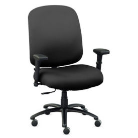 Big & Tall Faux Leather Chair with Arms, C80466