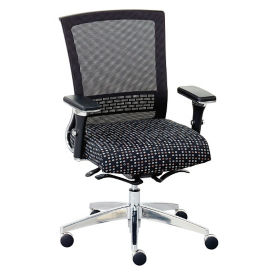 Array Patterned Fabric Seat Mesh Back Ergonomic Chair, C80021