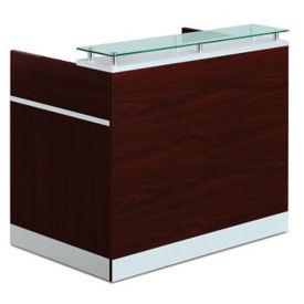 """Esquire Glass Top Reception Desk - 30""""D x 48""""W, D30186"""