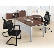 Pacifica Four Piece L-Desk Office Set, D35649