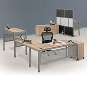 At Work Executive L-Desk Suite in Warm Ash, D37525
