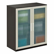 At Work Storage Cabinet with Glass Doors, B34061