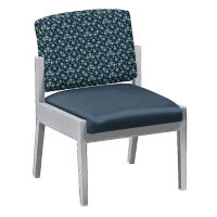 Fabric and Polyurethane Armless Guest Chair, W60852