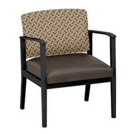 Fabric and Polyurethane Oversized Guest Chair, W60853