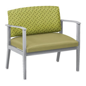 Fabric and Polyurethane Bariatric Guest Chair, W60854