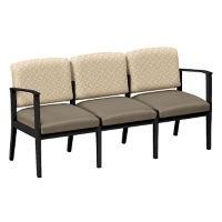 Fabric and Polyurethane Three Seat Sofa, W60857