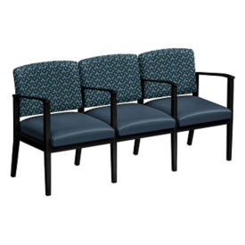 Fabric and Polyurethane Three Seat Sofa with Center Arms, W60858