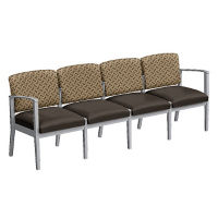 Fabric and Polyurethane Four Seat Sofa, W60859