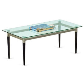 "Parkside Glass Top Coffee Table - 40""W x 20""D, W60941"