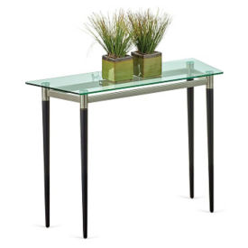 "Parkside Glass Top Sofa Table - 40""W x 15""D, W60942"