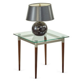 "Parkside Glass Top End Table - 22""W x 22""D, W60943"