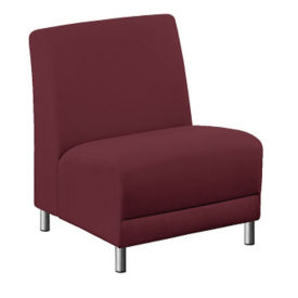 """Parkside Armless Oversized Fabric Guest Chair - 25""""W, W60950"""