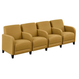 "Parkside Fabric Four Seater with Center Arms - 99.5""W, W60957"