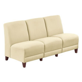 "Parkside Leather Armless Sofa - 64.5""W, W60983"