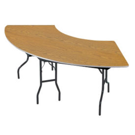 "Serpentine Plywood Table with Laminate Top - 30"" x 60"", T11801"