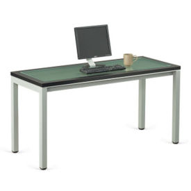 "Glass Top Desk 24""D x 60""W, D35705"