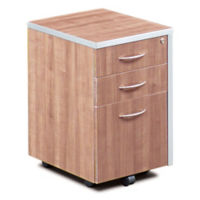 "Compass Three Drawer Mobile Pedestal - 16""W, L40023"