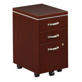 "Three Drawer Mobile File Pedestal - 16""W , L40015"