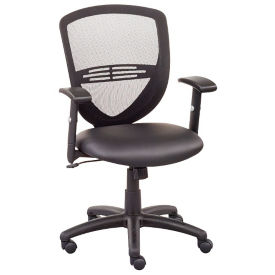 Network Mesh Back Faux Leather Seat Task Chair, C80497