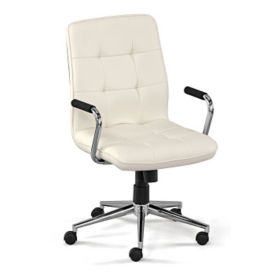 Faux Leather Quilted Petite Task Chair, C80423