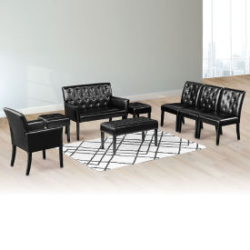 Tufted Faux Leather Reception Set, W60997