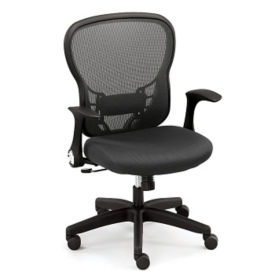 High Back Mesh Chair with Memory Foam, C80339