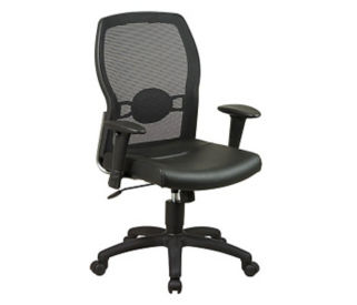 Mesh Back Executive Chair with Leather Seat, C80167