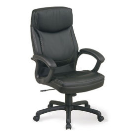 Bonded Leather Chair Contrast Stitching, C80155