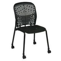 Armless Flex Back Guest Chair with Casters, C80387