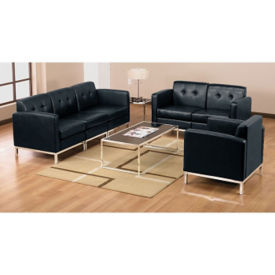 Faux Leather Modern Reception Grouping, W60519