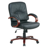 Mid Back Chair with Wood Frame, W60441