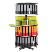 Four Tier Binder Carousel without Top, B34494
