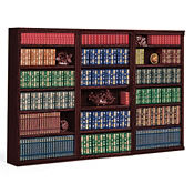 "18 Shelf Library Wall Unit - 72"" H, B30443"
