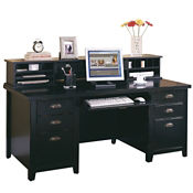 Executive Desk and Hutch Set, D35074