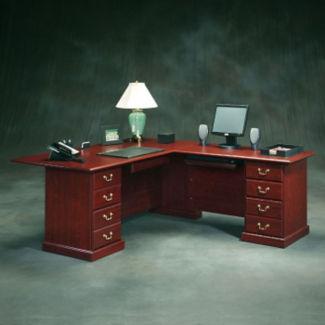 """Traditional Reversible L-Desk - 84"""" D x 71"""" W, D30174"""