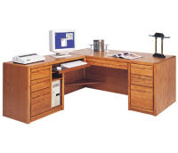 Executive L-Desk with Left Return, D32154