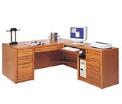 Computer L-Desk with Right Return, D32153