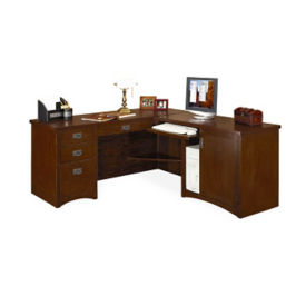 "L-Desk with Right Return - 74""D x 64""W, D35307"