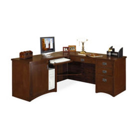"L-Desk with Left Return - 74""D x 64""W, D35310"